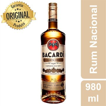 Rum Bacardi Carta Oro 980 ml