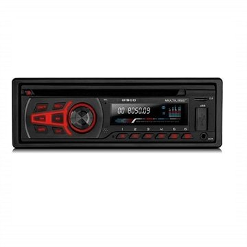 Som Automotivo Disco 1 Din Bluetooth Cd MP3 WMA 4x25WRMS Rádio FM + Entrada Cartão SD + USB + AUX Multilaser - P3322